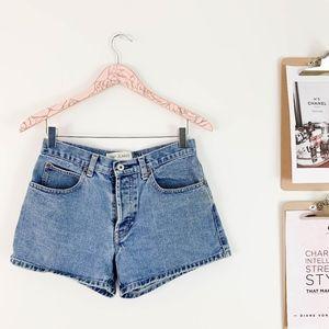 Vintage Gap High Rise Shorts 6 Denim Medium Wash